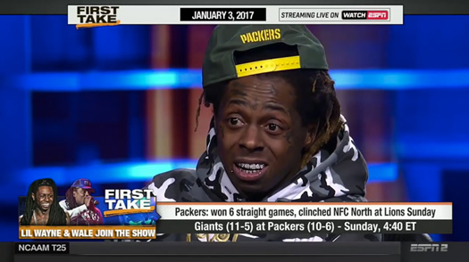 Lil Wayne & Wale Talk About Their Favorite NFL Teams & More On ESPN First Take