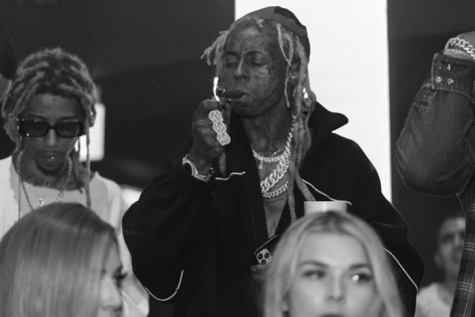 Lil Wayne Welcomes New Signee Mellow Rackz To Young Money At LIV In Miami