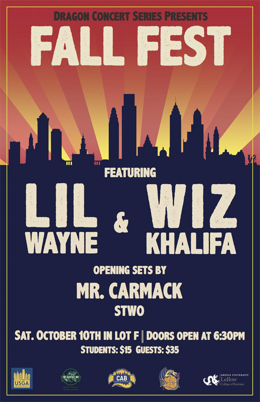Lil Wayne & Wiz Khalifa To Perform At Drexel University In Philadelphia
