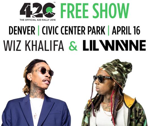 Lil Wayne & Wiz Khalifa To Headline The 2016 420 Rally Music Festival In Denver