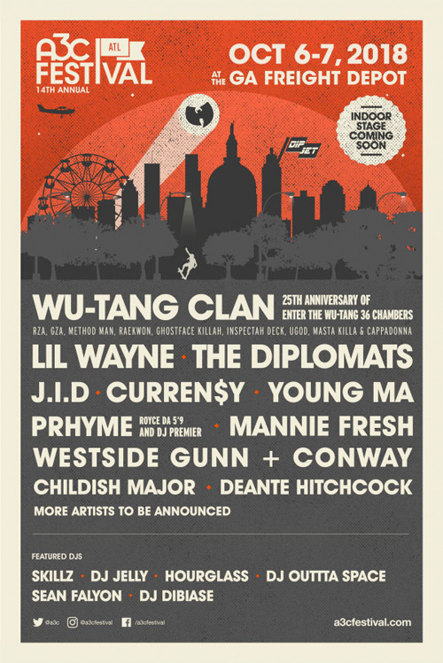 Lil Wayne, Wu-Tang Clan, Dipset & More To Headline The 14th Annual A3C Music Festival