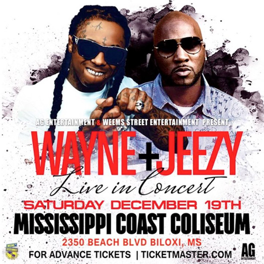 Lil Wayne & Young Jeezy Postpone Their Show At Mississippi Coast Coliseum In Biloxi To December