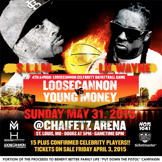 Lil Wayne & Young Money To Attend The 2015 LooseCannon Celebrity Basketball Game