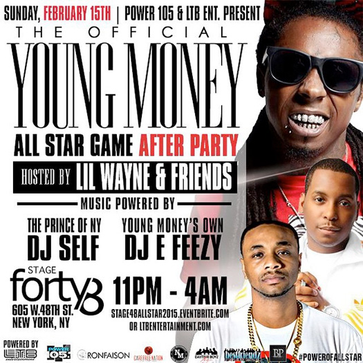Lil Wayne To Host A Young Money 2015 NBA All Star Game After Party At Stage 48 In New York