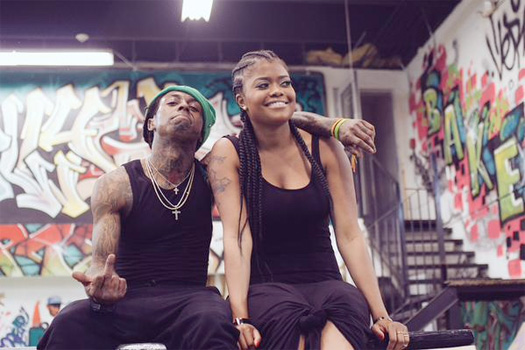 Lil Wayne & Young Money On Set Of A Mystery Shoot With Karen Civil At A Skate Park