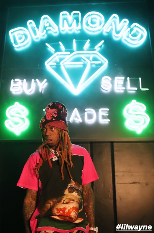 Lil Wayne & Young Money Shoot A New Music Video At Diamond Supply Co Skate Park