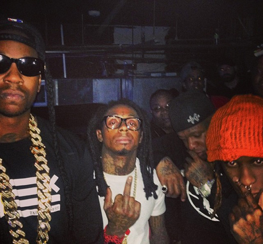Young Thug Raps Along To Lil Wayne Hollywood Divorce Verse While Throwing Up Gang Signs