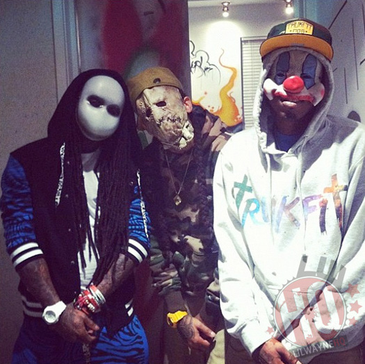 Lil Wayne, Marley G and Boo Dressed Up For Halloween