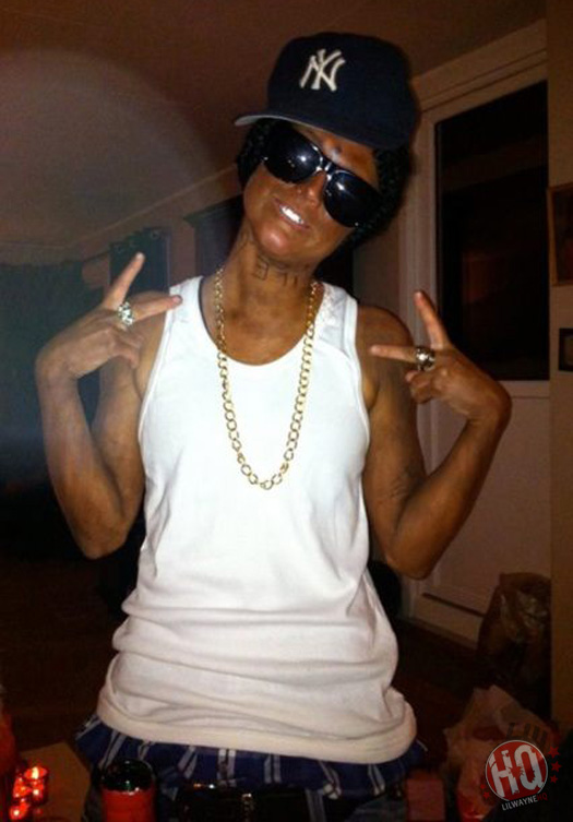 Lil Wayne Fan Dressed Up For Halloween
