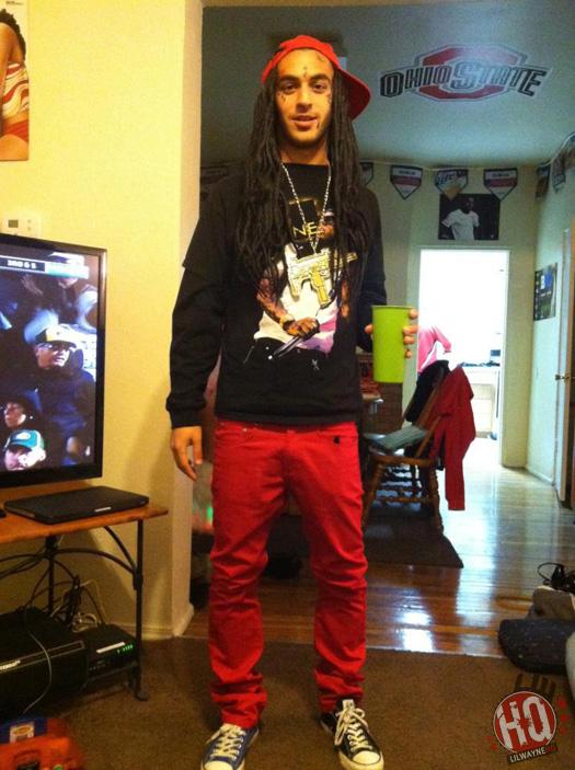 Lil Wayne Fan Dressed Up For Halloween