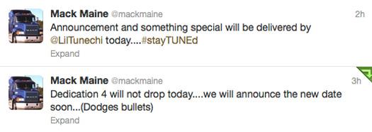 Mack Maine Tweets About Dedication 4