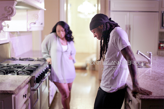 Photo Of Nivea & Lil Wayne On The Set Of Love Hurts