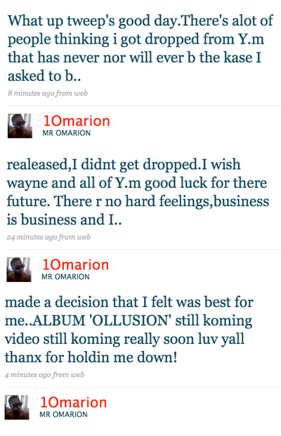 Omarion Claims He Asked For Young Money Release