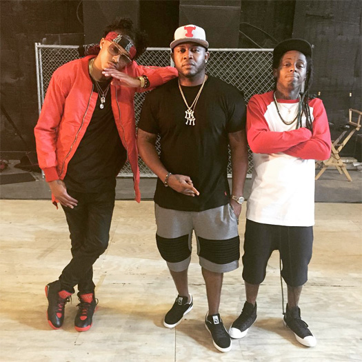 On Set Of August Alsina & Lil Wayne Why I Do It Video Shoot In New Orleans