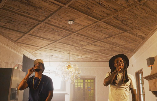 On Set Of Currensy & Lil Wayne Bottom Of The Bottle Video Shoot In Miami