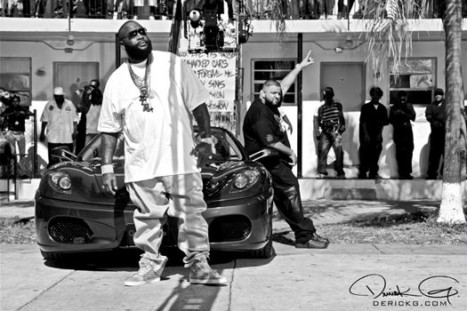 On Set Of DJ Khaleds Welcome To My Hood Video Shoot
