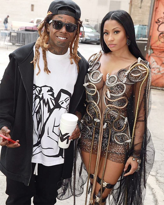 On Set Of Nicki Minaj, Lil Wayne & Drake No Frauds Video Shoot