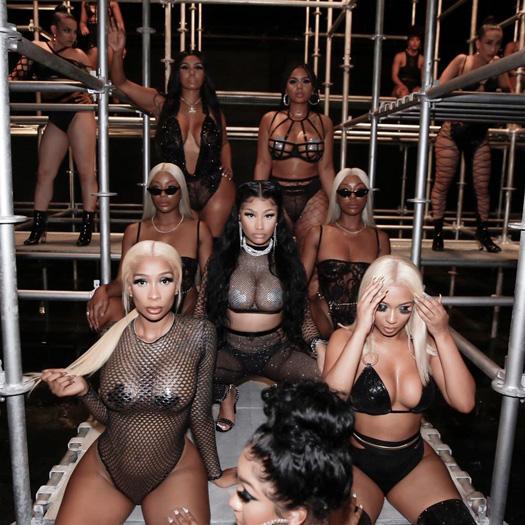 On Set Of Nicki Minaj & Lil Wayne Good Form Remix Video Shoot