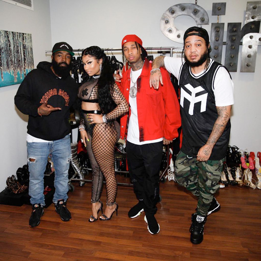 On Set Of Nicki Minaj & Lil Wayne Good Form Remix Video Shoot