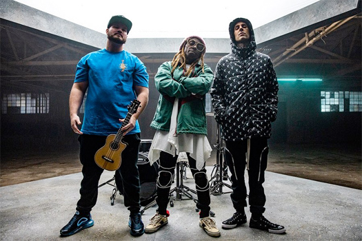 On Set Of Travis Barker, Lil Wayne & Rick Ross Gimme Brain Video Shoot