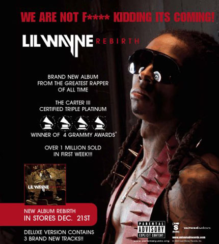 Lil Wayne - Rebirth Official Sellsheet