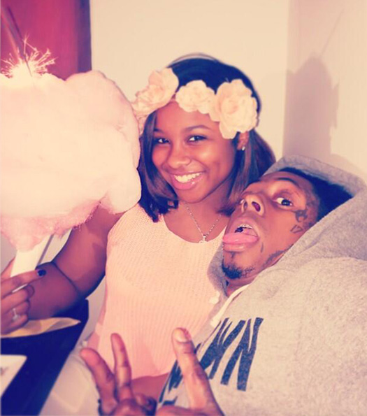 Reginae Carter Drives Her Father Lil Wayne Around