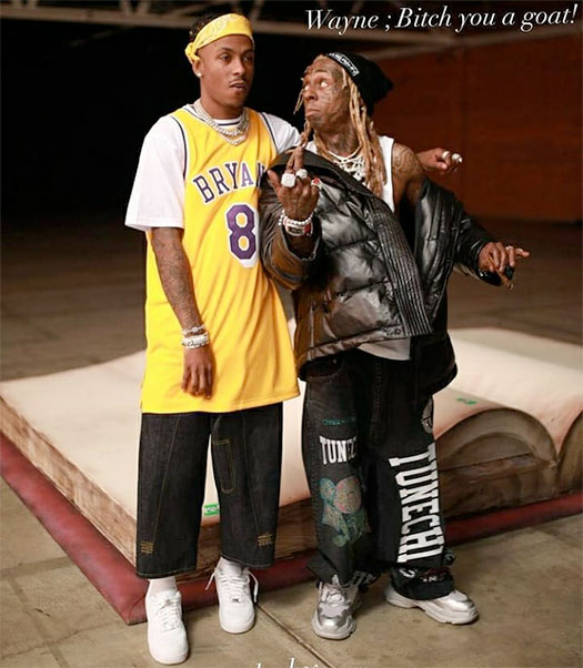 Rich The Kid & Lil Wayne Shoot A New Music Video With Rich Paying Homage To Wayne