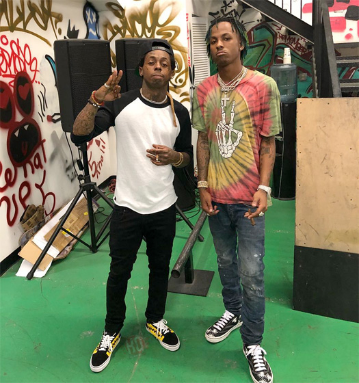 Rich The Kid & YBN Almighty Jay Pay Lil Wayne A Visit At His TRUKSTOP Skate Park