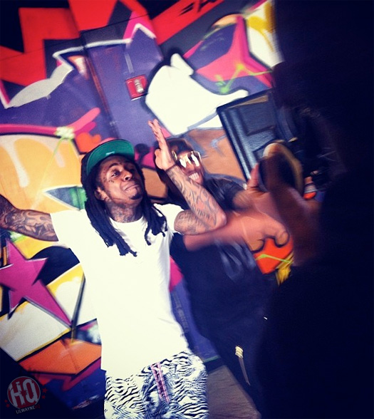 On Set Of Rocko & Lil Wayne Good Video Shoot