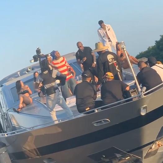 Roddy Ricch, Lil Wayne & Birdman Shoot A New Music Video On A Boat
