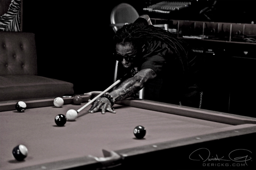 Pictures On Set Of Rick Ross & Lil Waynes 9 Piece Video Shoot