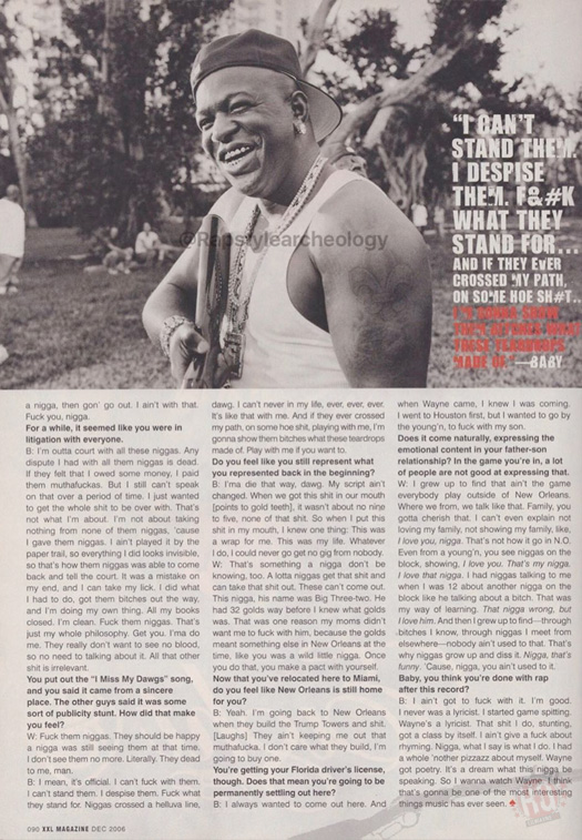 Scans Of Lil Wayne & Birdman Cover Story For XXL Magazine 2006 Issue