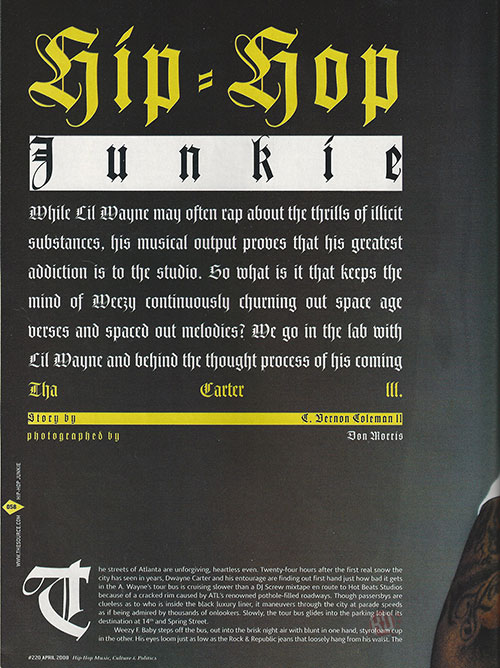 Scans Of Lil Wayne Cover Story For The Source Magazine April 2008 Issue