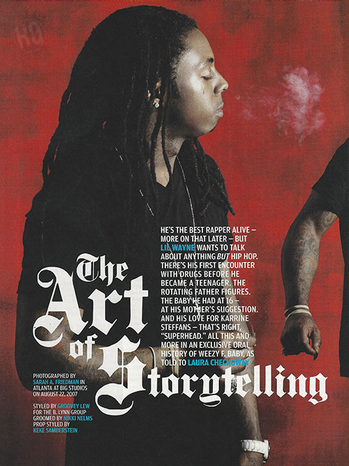 Scans Of Lil Wayne Cover Story For VIBE Magazine 2007 Issue