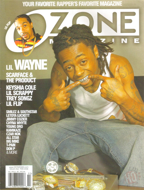 Scans Of Lil Wayne Cover Story For Ozone Magazine February 2006 Issue