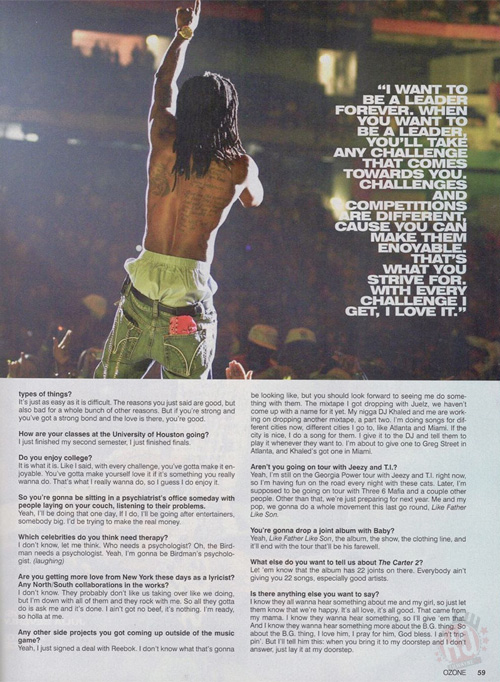 Scans Of Lil Wayne Cover Story For Ozone Magazine 2006 Issue