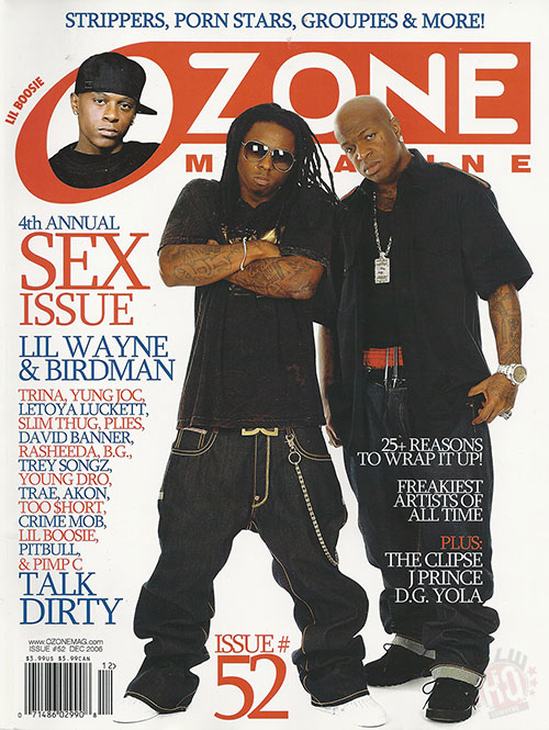 Scans Of Lil Wayne Cover Story For Ozone Magazine December 2006 Issue