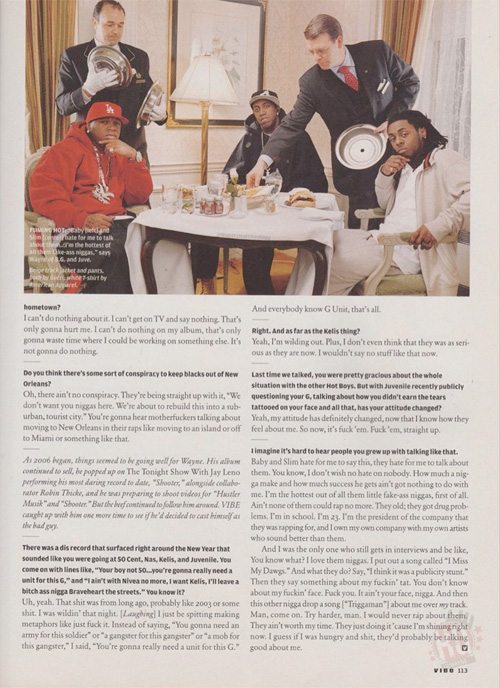 Scans Of Lil Wayne Cover Story For Vibe Magazine 2006 Issue