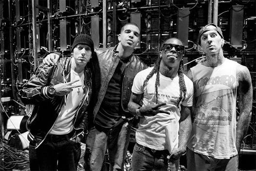 Travis Barker Recalls Performing Live With Lil Wayne, Eminem & Drake At The 2010 GRAMMY Awards