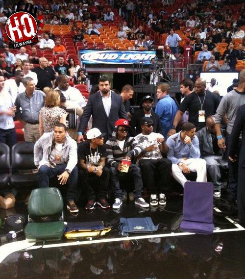 Pictures Lil Wayne Attends Miami Heat Vs Boston Celtics Game