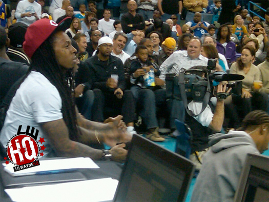Pictures Of Lil Wayne Attending New Orleans Hornets Game
