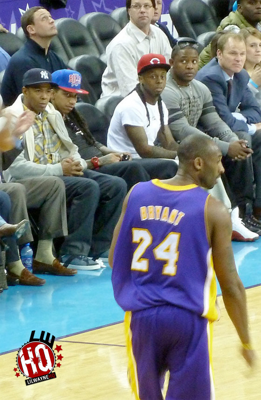 Pictures Of Lil Wayne Attending Los Angeles Lakers vs New Orleans Hornets Game