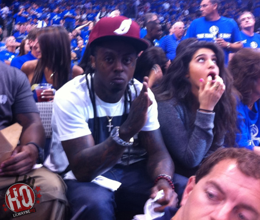 Pictures Of Lil Wayne Attending Game Five Of Heat vs Mavericks Game