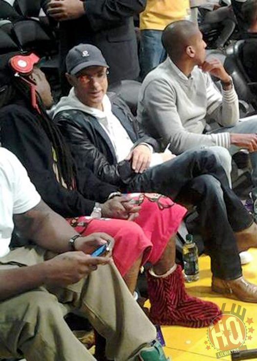 Lil Wayne Relógios Denver Nuggets vs Los Angeles Lakers Jogo Com Jimmy Iovine