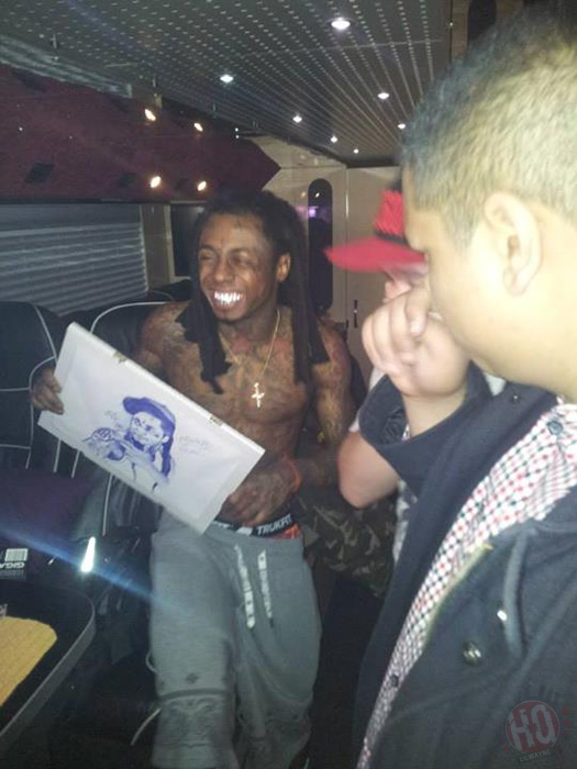 Two Members From The LilWayneHQ Forum Meet Lil Wayne