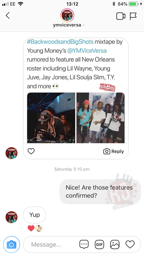 Vice Versa Confirm Lil Wayne Feature On Their Backwoods & Big Shots Mixtape