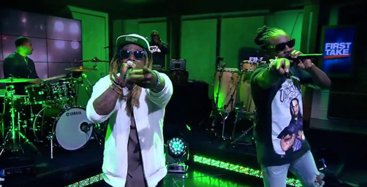 Wale & Lil Wayne Debut Running Back Live On ESPN First Take Show