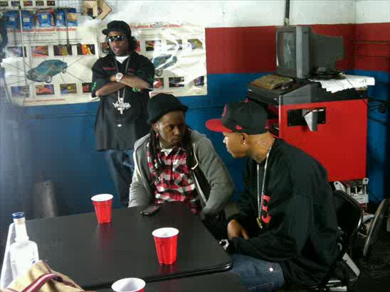 Lil Wayne On Set Of Blood Niggaz Video Shoot