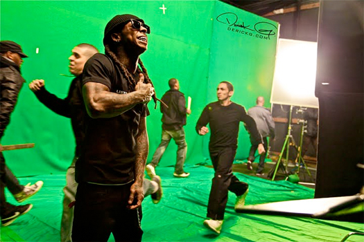 Behind The Scenes From The Lil Wayne Drop The World Music Video
