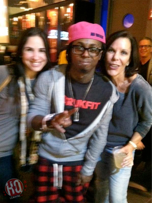 Pictures Of Lil Wayne Watching Miami Heat vs New York Knicks Game